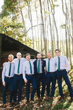 Jewel Tone North Carolina Mountain Marriage Ceremony at the Vineyards at Betty's Creek - Wedding World Casual Wedding, Wedding Men, Wedding Groom, Wedding Suits, Wedding Attire, Wedding Ideas, Wedding Entourage, Wedding Inspiration, Gothic Wedding