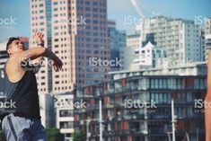 Pacific Island Man against Urban Background royalty-free stock photo Funny Beach Photos, Beautiful Beach Pictures, Beautiful Beaches, Island Man, South Pacific, Image Now, Summer Beach, Royalty, Urban