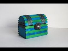 DIY Jewelry Chest With Popsicle Sticks - YouTube