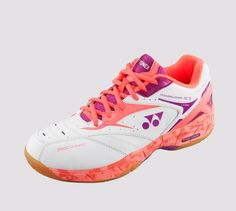 Yonex Women s Power Cushion SHB-SC5 LX Badminton Shoe-Coral Orange -- You 49177aae93