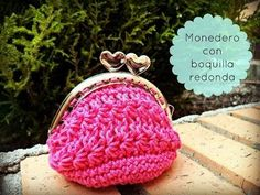 Monedero de ganchillo con boquilla redonda - Crochet purse :) Tutorial paso a paso - YouTube