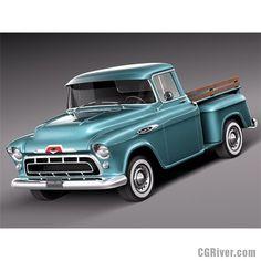 Chevrolet pickup 1957 - 3D Model