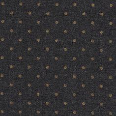 Fabric+lana+grigia+con+pois+dorati+x+50cm