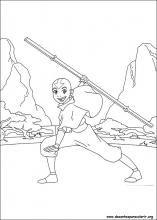 Desenhos do Avatar: A Lenda de Aang para colorir