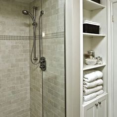 best small bathroom storage ideas for . We've already done the work for you when it comes to finding and curating small bathroom storage ideas. Diy Bathroom, Bathroom Renos, Master Bathroom, Bathroom Shelves, Bathroom Closet, Bathroom Small, Downstairs Bathroom, Design Bathroom, Shower Shelves