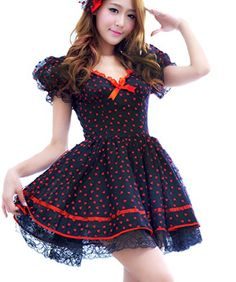 Vakind® Sexy Lolita Princess Girl Skirt Babydoll Dress Halloween Cosplay Costume Vakind http://www.amazon.com/dp/B00NN93B4C/ref=cm_sw_r_pi_dp_w5W-ub0W1EYWJ