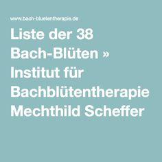 Liste der 38 Bach-Blüten » Institut für Bachblütentherapie Mechthild Scheffer