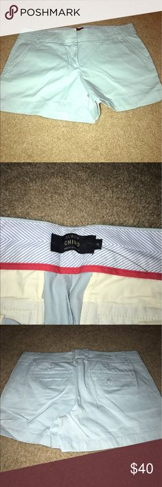 J crew chino shorts. Size 8 light blue color J crew chino shorts. Size 8 light blue color. Never worn before. Still has part of the tags on them. J. Crew Shorts