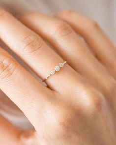 Unique White Gold Moissanite Engagement Ring - Fine Jewelry Ideas - The new Diamond Tempo Ring is dainty and elegant perfect on its own or to add to your stack. White d - Dainty Engagement Rings, Engagement Ring Images, Filigree Engagement Ring, Diamond Solitaire Necklace, Danty Necklace, Natural Diamonds, White Diamonds, Diamond Sizes, Gold Bands