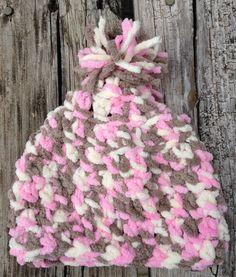 Baby Bernat pink camo hat