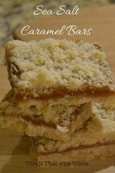 Delicious and Easy Sea Salt Caramel Bars with Buttery Shortbread, Creamy Caramel and Rich Sea Salt!