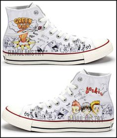 NEW Green Day Dookie Converse Shoes by RahulMistry on Etsy
