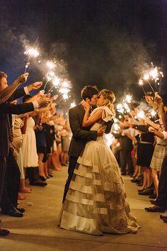 sparkler exit | Haley Sheffield #wedding