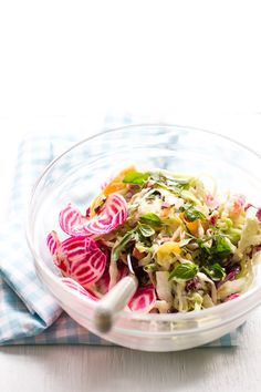 summer crunch salad with creamy caesar dressing - The Clever Carrot
