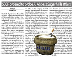 Sugar Mills - Shunaid Qureshi - 200 Million Fraud