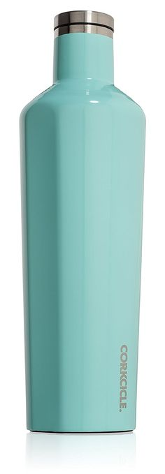 Corkcicle Canteen - Water Bottle and Thermos - Keeps Beverages Cold for Over 25, Hot for Over 12 Hours - Triple Insulated with Shatterproof Stainless Steel Construction - Turquoise - 25 oz. * This is an Amazon Affiliate link. Be sure to check out this awesome product.
