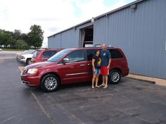 MICHAEL and KATHY Brown of Vandalia and their new 2014 CHRYSLER TOWN & COUNTRY! Congratulations and best wishes from Hosick Motors, Inc. and Brian Major.