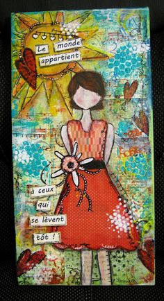 France Passion Scrap- My second She Art Inspired frame
