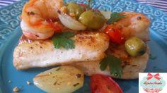 Cozinha Simples da Deia: Abadejo com camarões e azeitonas Tondela