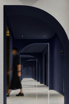 Hotel Hallway, Hotel Corridor, Wc Design, Corridor Design, Loft, Office Interior Design, Commercial Interiors, Model Homes, Ceiling Design