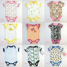 new born unisex baby bodysuits carters creepers vest infant summer clothing 100% cotton body para bebe roupas new fashion 2014 $1.80
