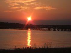 Powder Point Bridge at Sunset - Duxbury, MA
