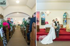 The Bride and Groom are now married and get their first photo as Mr and Mrs.  Wedding Ceremony at St Peter's Church, Naas by http://www.couple.ie