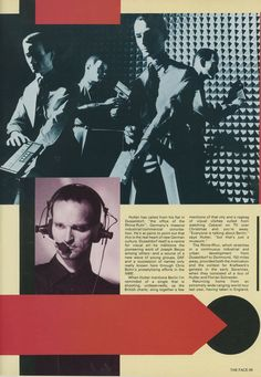 This Kraftwerk piece comes from The Face in March, 1982. Ralph Hutter is interviewed by Steve Taylor with design and layout by Neville Brody.