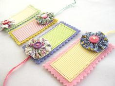 Gingham Gift Tags by PiccalilliPatchwork