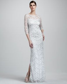 Three-Quarter-Sleeve Lace Gown | Inspirations | Bride & Groom
