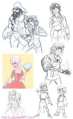 Gangfield Back Story Sketches - November 2014 by The-Ez.deviantart.com on @deviantART
