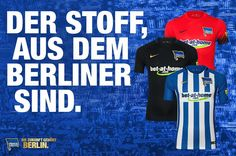 We proudly present: Unsere Trikots für die Jubiläumssaison! #blauweissgold #hertha125 #hahohe