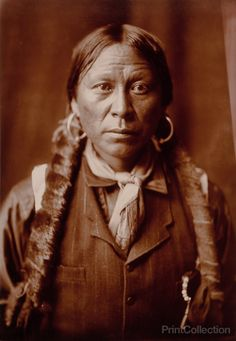 A Jicarilla Man, photographed by Edward Curtis in 1904. Head-and-shoulders portrait of a Jicarilla man.
