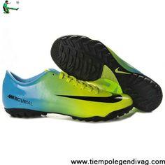 69a5f2367 Discount Nike Mercurial Vapor IX TF Cleats Green Blue Black Soccer Boots  Store Cheap Soccer Cleats