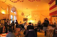 Ziferblat, London – A new cafe concept where drinks are free, but you pay 3 pounds-per-minute to be there.