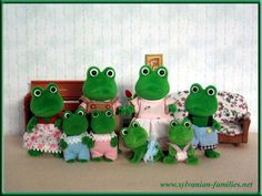 Sylvanian families frog family... used to take the four of them everywhere!