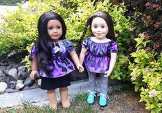 Les Brown, New Dolls, 18 Inch Doll, Off Shoulder Tops, Peasant Tops, Knitted Fabric, Printing On Fabric, Looks Great, Doll Clothes