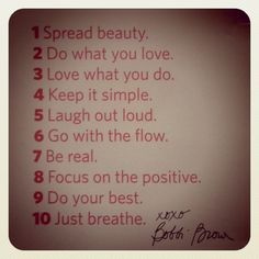ten steps to a better life