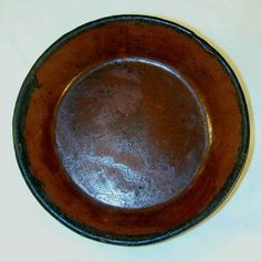 Redware Pie Plate Antique Lead Glazed from Southeastern Pennsylvania