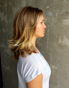 Hand painted balayage by stella stylists LJ and Elizabeth Luz.