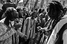 The Baye Fall holy men of Senegal are as distinctive as the Saddhu holy men in India and are fairly similar in appearance, except nudity.