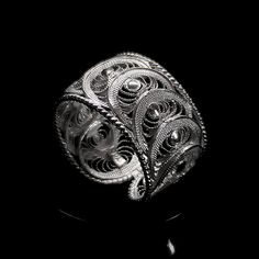 """The new Handmade Ring """"Infinity"""", only for $30.00 Real filigree jewelry made with real sterling silver. #silver #jewellery #handmade #jewelry #filigree #cyprus Topaz Jewelry, Filigree Jewelry, Sterling Silver Filigree, Silver Rings Handmade, Filigree Ring, Silver Jewelry, Handmade Jewelry, Jewellery, Flapper Accessories"""