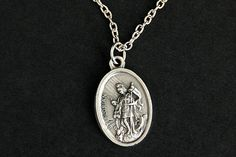 Saint Florian Necklace. Catholic Necklace. St Florian Medal Necklace. Patron Saint Necklace. Christian Jewelry. Religious Necklace. by GatheringCharms from Gathering Charms by Gilliauna. Find it now at http://ift.tt/1nYdM5Z!