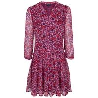 French Connection Marble Dress, Autumn Prune Multi