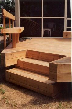 Low level cedar deck and benches