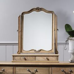 Luxe Weathered Table Mirror