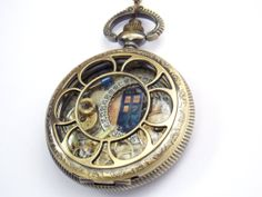 Doctor Who Necklace Pocket Watch by TimeMachineJewelry