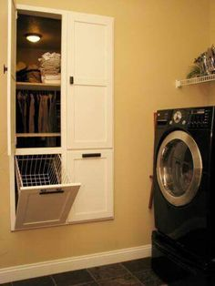 Closet of master bedroom attached to laundry room!