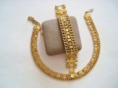 Vintage Necklace and Bracelet Set Dark Gold by YoursOccasionally