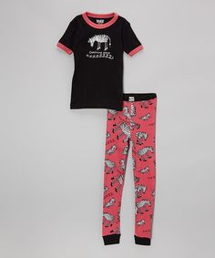 Love this Black 'Catching Some Zs' Pajama Set - Toddler & Girls by Lazy One on #zulily! #zulilyfinds